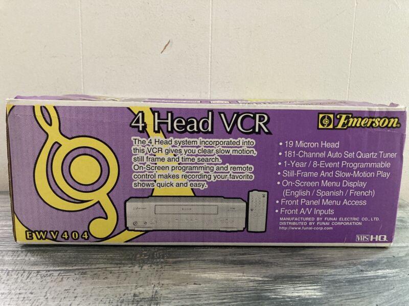 Emerson EWV404 VCR VHS 4 Head 19 Micron Player Recorder NOS