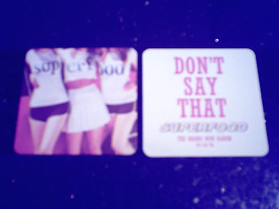 SUPERFOOD - DON'T SAY THAT (2 x PROMO DRINKS COASTERS)