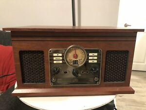 6-in-1 Vintage Style Record Player