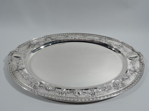 Gorham Tray - MNG - Large Heavy Antique Serving - American Sterling Silver