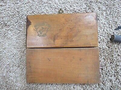 Vintage Etalon Rolle Switzerland Micrometer Wooden Box Lot15296
