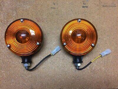 Pair Universal Tractor Warninglamp Flasher Lights Ac Deere Ih