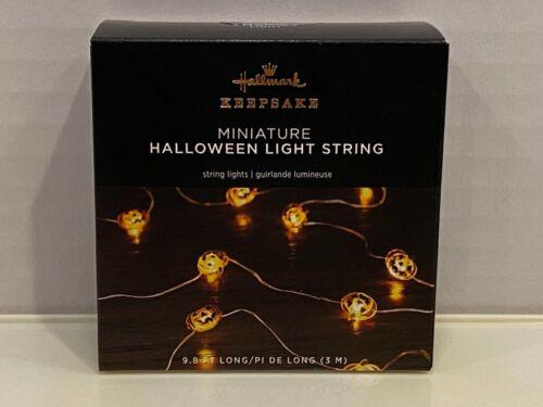 Hallmark Keepsake 2021 Miniature Halloween Pumpkin Light String NIB Sealed