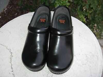 Dansko XP professional Clogs black leather Men's Size EU 45 US 11.5 - 12   Dansko Mens Clogs