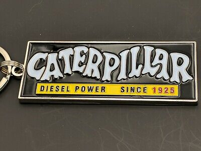 Caterpillar Equipment Old School Emblem Keychain H6