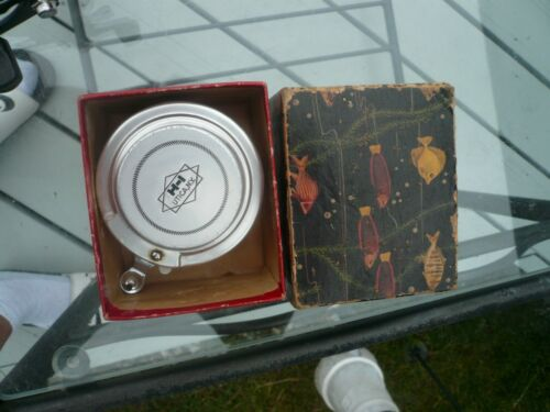 HORROCKS&IBBOTSON UTICA AUTOMATIC FLY REEL,IN AWESOME VINTAGE TROPICAL FISH BOX