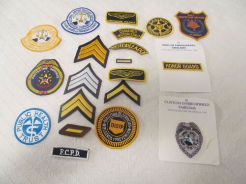 HUGE LOT OF 19 DIFFERENT  POLICE & SECURITY PATCHES
