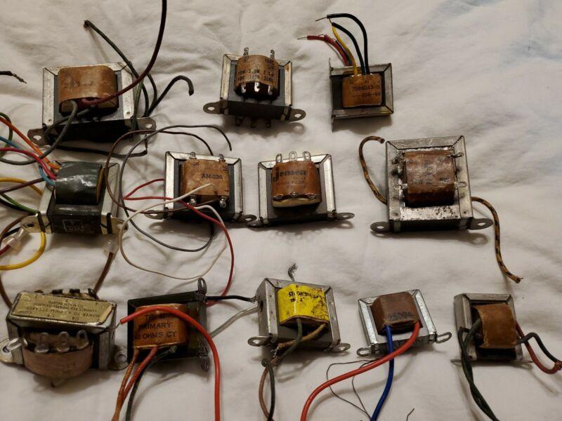 12 VINTAGE JENSEN Perrless Chicago  TRANSFORMERS audio input output misc