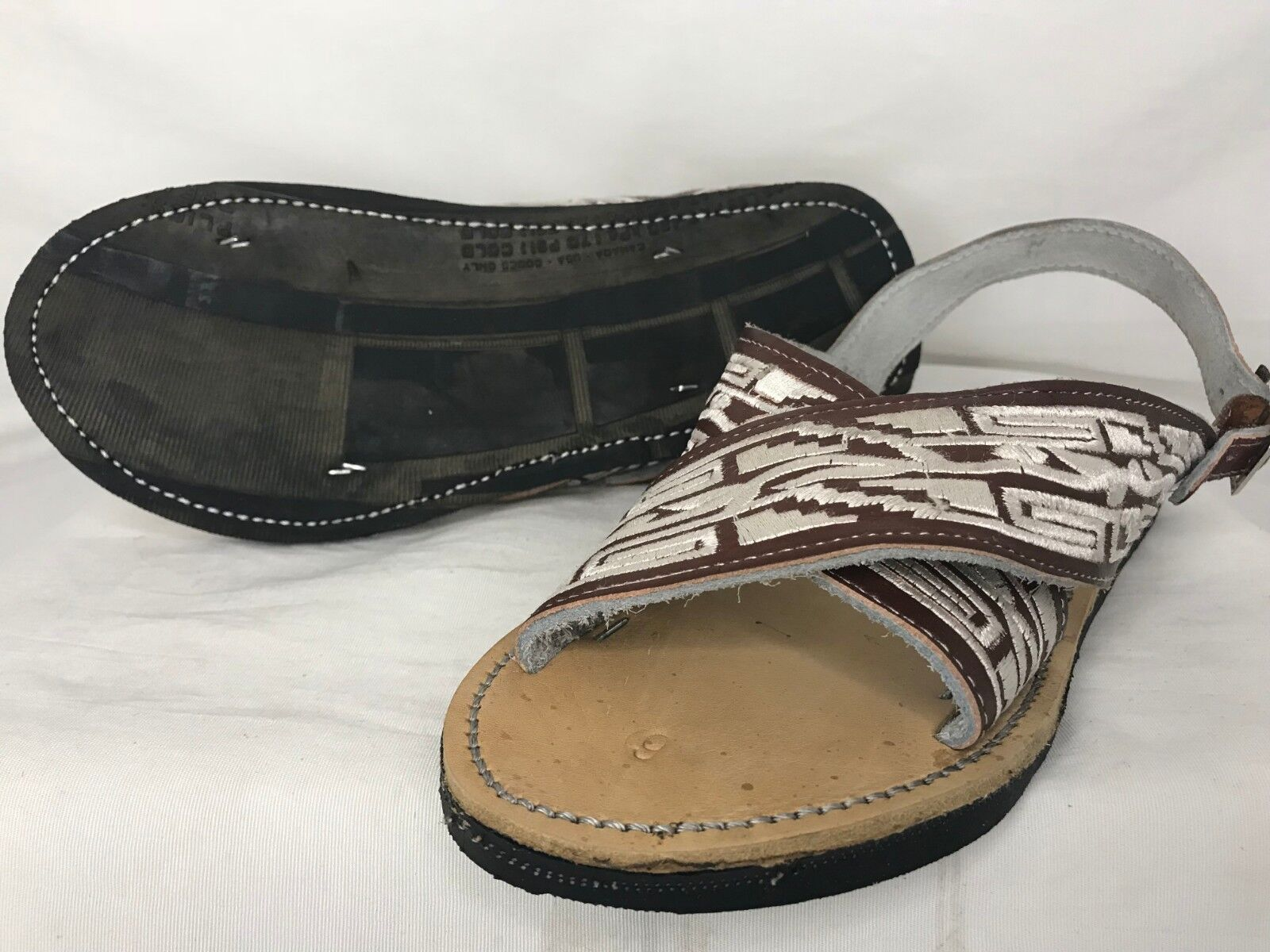 9f9a23e449a6 new! MENS LEATHER MEXICAN two strap PITEADO GRABADO SANDALS HUARACHE  ALL  SIZES