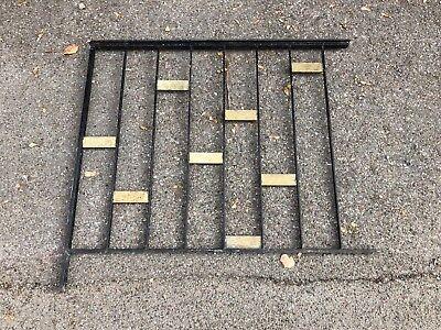 Altes Geländer L 98 cm Eisen mit Handlauf Messing