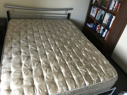 Queen slate bed frame and mattress
