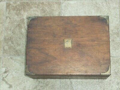 Vintage Writing Slope with Brass Detailing - Needs Attention A Project