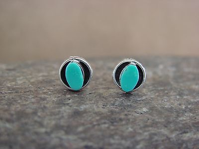 Native American Indian Jewelry Sterling Silver Turquoise Post Earrings! Lamy