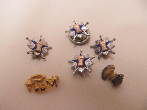 Lot of Vintage Sterling Silver & 10K Gold Patrons of Husbandry/Grange Pins