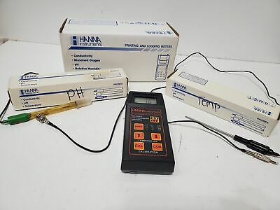 Hanna Instruments Hi 8424 Microcomputer Ph Meter 1230 Ph Probe Temperature