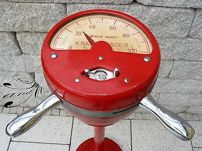 Alter Kraftmesser der 50er Kirmes Rummel Volksfest old power meter 50`s funfair