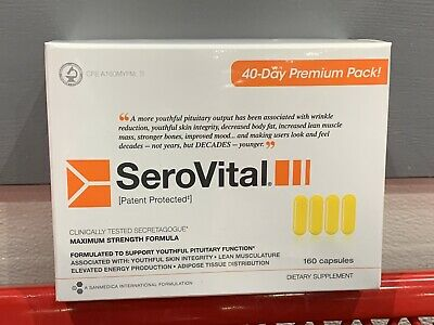 US SELLER! SeroVital Dietary Supplement, 160-count, Expires July 2022