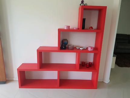 Red cube shelf