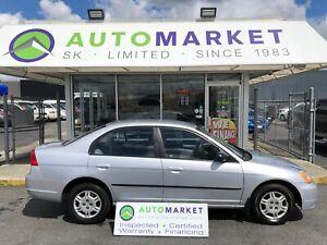 2002 Honda Civic FINANCING FOR ANY CREDIT!