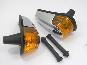 TURN SIGNAL ASSEMBLY WITH AMBER LENS FITS VOLKSWAGEN TYPE1 BUG 1970-1979
