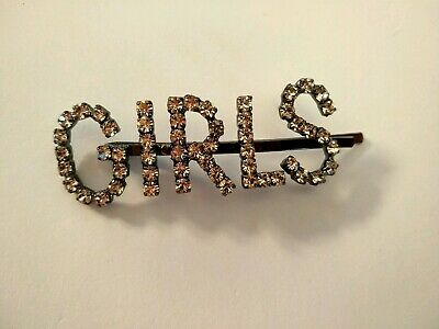 "Jennifer Behr Crystal Encrusted ""Girls "" Hairclip"