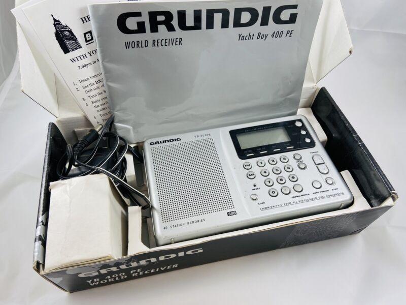 Grundig Yacht Boy YB 400 PE World Receiver  AM FM Short Medium Long Wave Tested