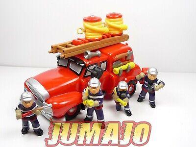 CP100 Lote Figuras PVC Niño Bomberos: Camión+4 Soldados+Accesorios 22cm