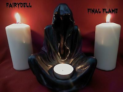 GRIM REAPER TEALIGHT CANDLE HOLDER ~ GOTHIC HORROR FIGURINE ~ FANTASY ORNAMENT