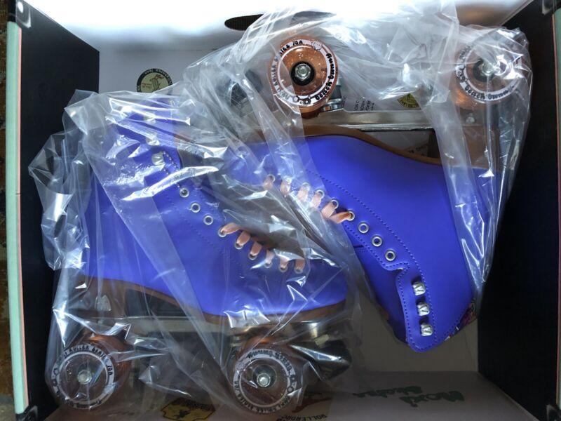 Moxi Beach Bunny Roller Skates Moxi Size 6 (Womens 7 - 7.5) Periwinkle NEW!
