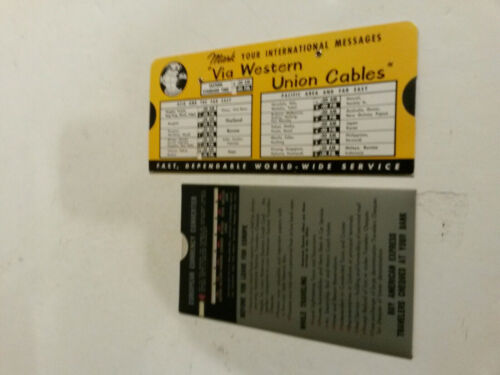 Western Union cables rapid time calculator European Currency Converter lot 2 60s