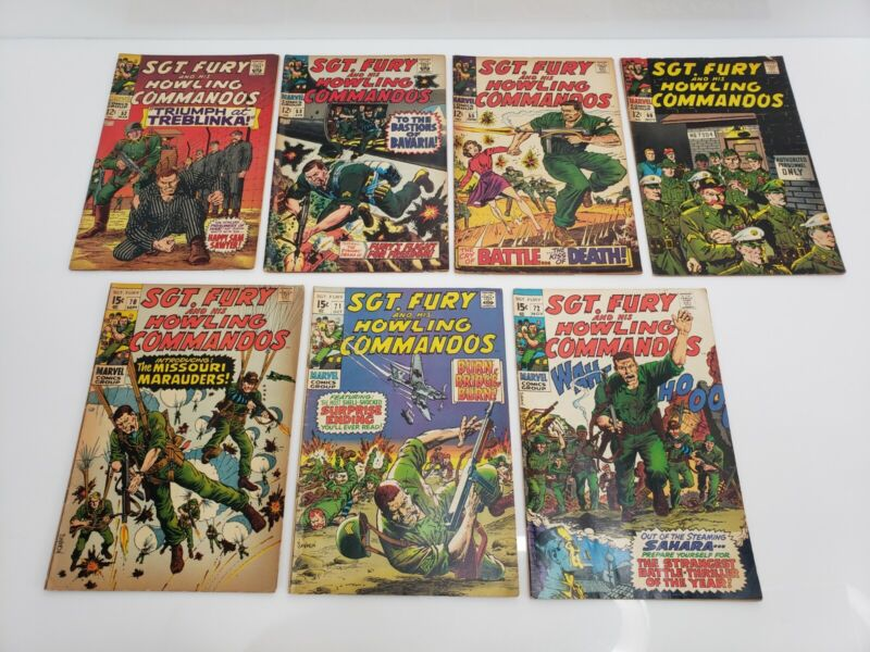 Vintage Marvel Comics Sgt. Fury And His Howling Commandos Vol 1. Lot Silver Age
