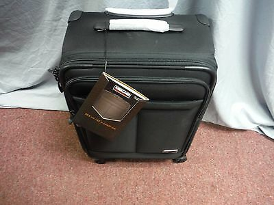 "New Kirkland Signature Upright 22"" Black Carry On Spinner Cordura Ballistic Nylo"