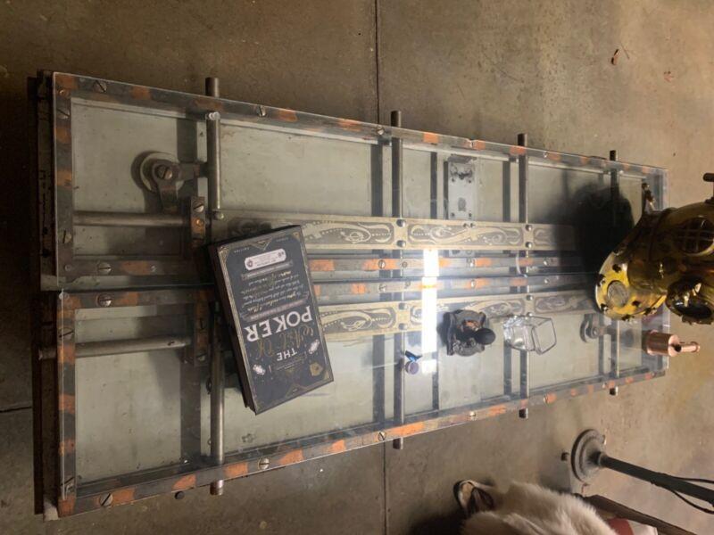 custom vault bank door table