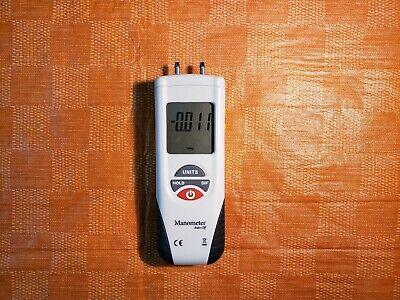 Differential Air Pressure Meter Digital Manometer Zero Adjustment Auto-off