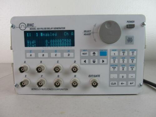 BNC Berkeley Nucleonics BNC 555 555-8cGH Pulse / Delay Gen. 8 CH Tested, Working