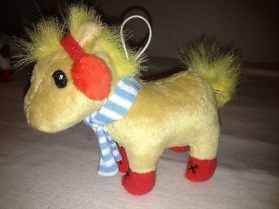 Horse Christmas Ornament Zynga Farmville Plush Stuffed Animal Farm  New