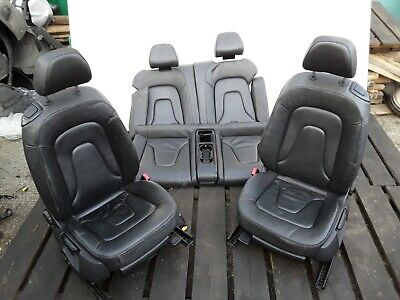 AUDI A5 COMPLETE INTERIOR SEATS FRONT BACK HEATED LEATHER CONVERTIBLE BLACK