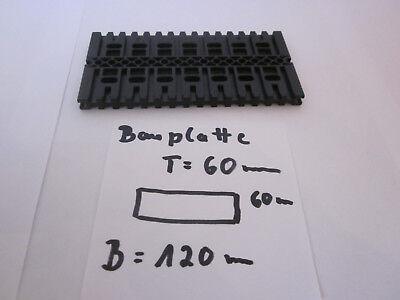 Fischertechnik 1x Bauplatte Maße:120x60x7 schwarz Sammlung Konvolut Zubehör Top
