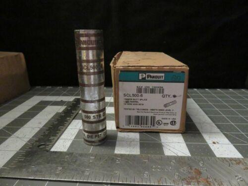 "Panduit SCL500-6 Compression Butt Splice 500 MCM 4.62"" Long Seamless Barrel"
