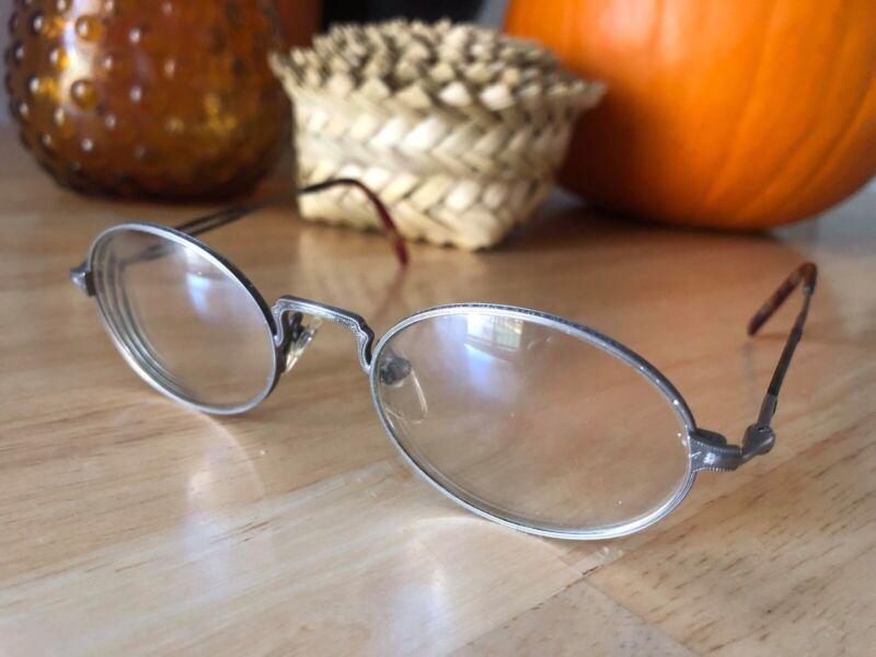 Matsuda 2876 Vintage Oval Eyeglasses Unisex Pewter Optical Frame
