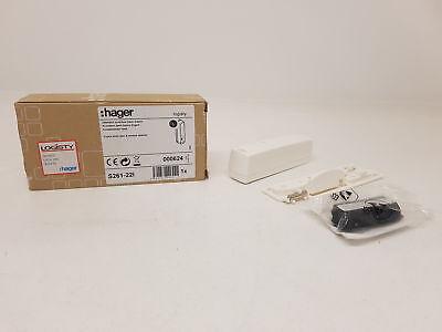 LOGISTY Hager S261-22I Détecteur Ouverture Multi Contact Blanc Expert + BATLI38