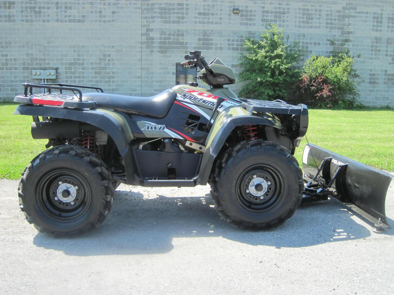 2004 POLARIS SPORTSMAN 700 TWIN HO 4X4 LOW MILES CHEAP SHIPING XP ATV PLOW WINCH
