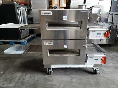 New Lincoln Impinger 1132 Double Electric Conveyor Pizza Oven - 208 Volt 3 Ph