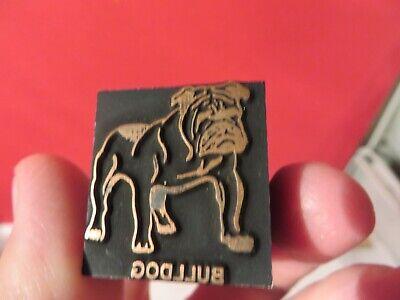 Printing Letterpress Printer Block Decorative Bulldog W Spike Collar Print Cut