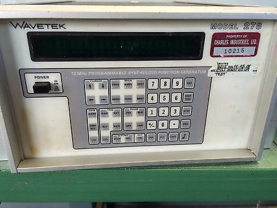 Used Wavetek 278-s-862 Programmable Synthesized Function Generator Cf