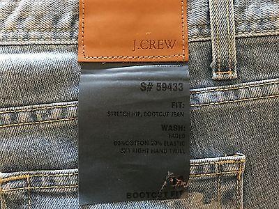 Boot Cut Stretch Twill Elastic (NWT J. Crew Stretch Hip Bootcut Jeans cotton elastic 3X1 Right Hand Twill size)