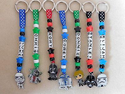Personalised Keyring bag tag Bagtag Star Wars Yoda Vader Stormtrooper Luke R2D2