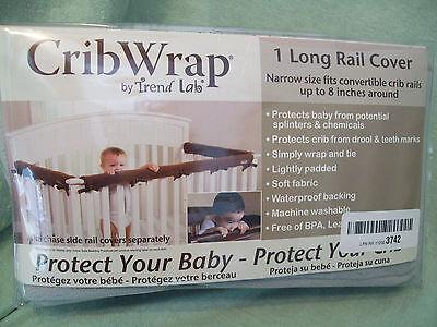 Trend Lab Crib Rail, Narrow Rail Cover, Gray Fleece