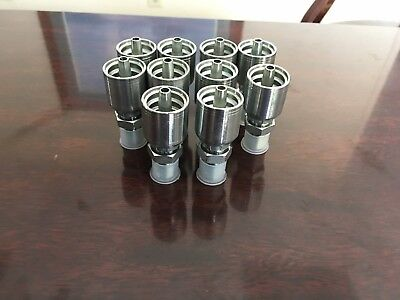 10 Pack Mp-6-6 Hydraulic Hose Crimp Fittings 38 Hose X 38 Mp 10143-6-6