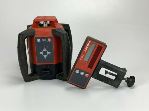 USED HILTI PR 20 ROTATING LASER  w/ CASE, AND PRA 20 RECEIVER